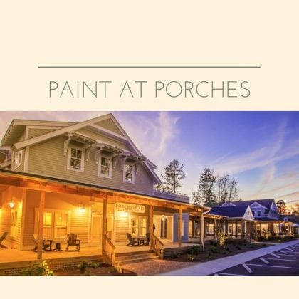 Sign Up Today for Painting Classes at Porches Cafe