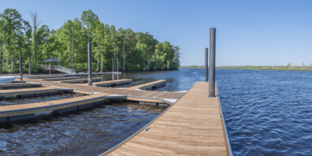 New Boat Slips at the River Bluffs Marina